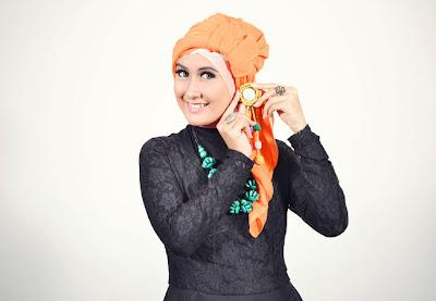 Cara+memakai+jilbab+segi+empat+turban+5 Cara Memakai Jilbab Segi Empat Turban