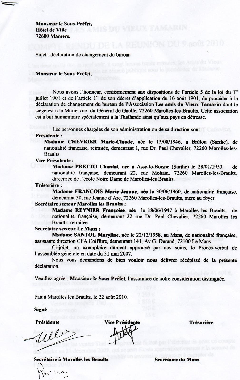 Statuts Bureau Administrative LAVT