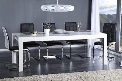 jedalensky stôl, biely stôl do jedalne alebo kuchyne, moderny jedalensky stôl