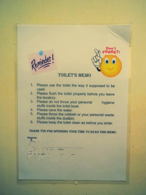 Memo About Bathroom Use Just B Cause