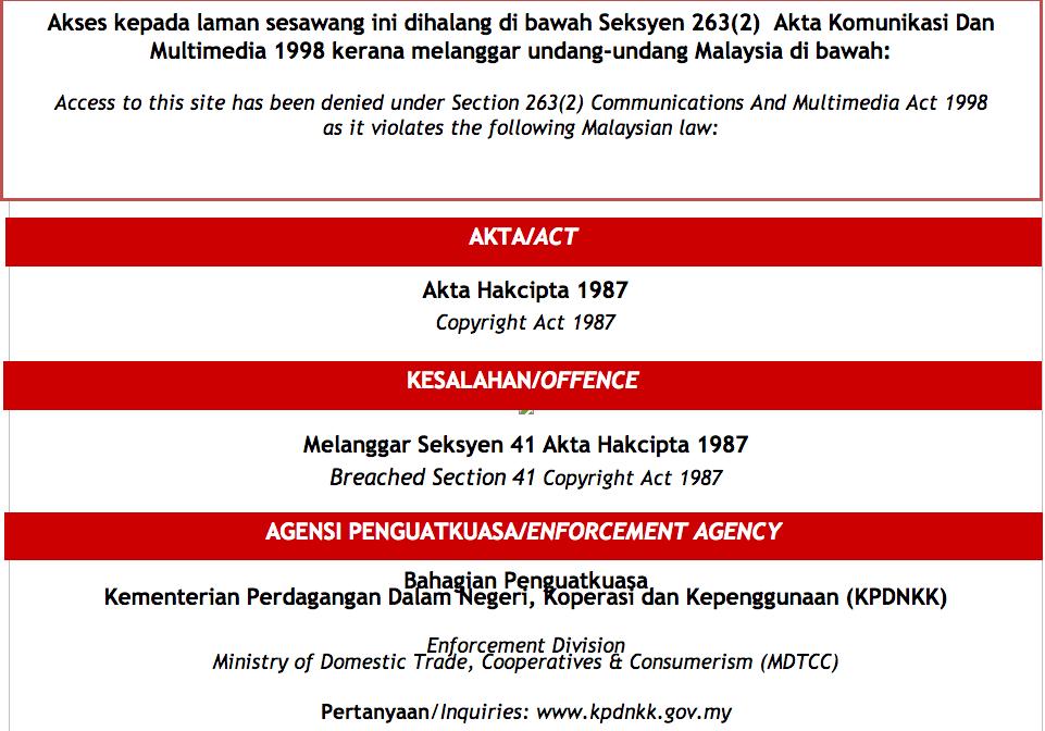 malaysia copyright act 1987