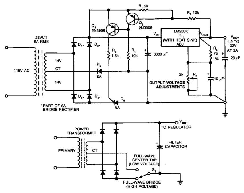 switching improves regulator efficiency circuit diagram