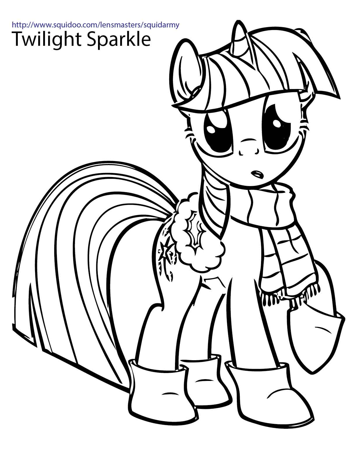 My Little Pony Coloring pages Squid Army