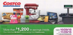 Current Costco Coupon November 2015