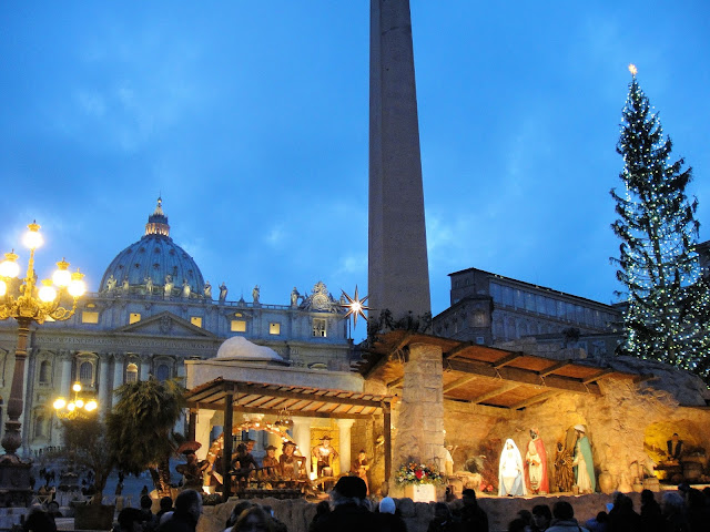 One of the most famous Nativity scenes is in St. Peter's Square in Rome. Photo: RomeCabs.com. Unauthorized use is prohibited.