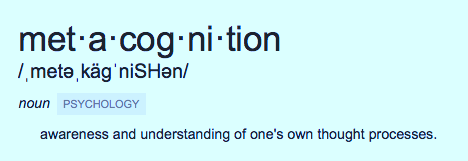 metacognition definition - Light Bulbs and Laughter Blog