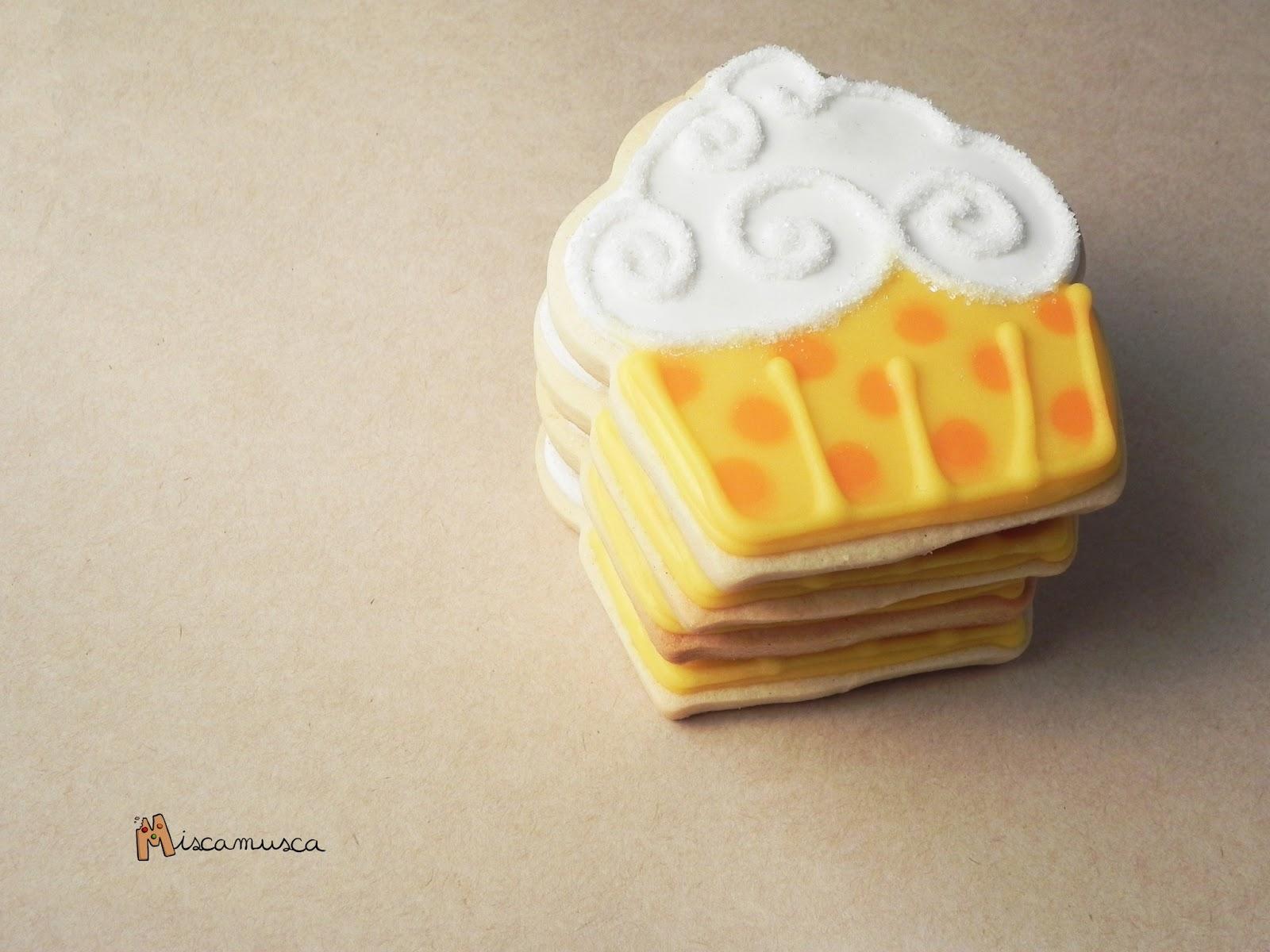 Galleta cupcake topos