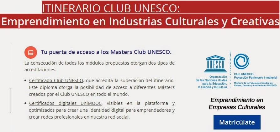 UniMOOC: Emprendimiento en industrias culturales y creativas