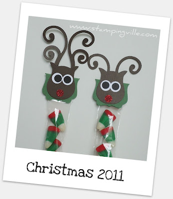 Reindeer Treat Topper Idea Using Stampin' Up! Punches