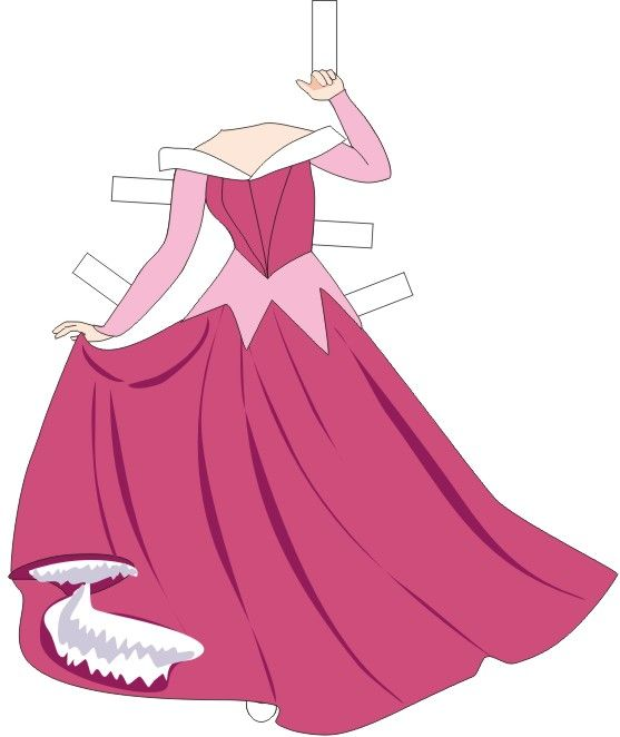 Sleeping Beauty printable paper doll filmprincesses.blogspot.com