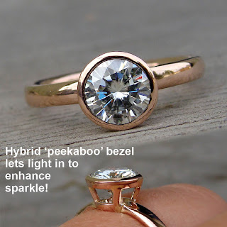 moissanite rose gold