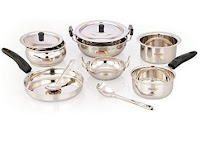 Buy Pigeon Cookware Set 10-Pieces at  Rs. 799 only at PAytm:buytoearn.