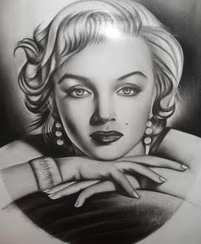Actriz Marilyn Monroe en retrato