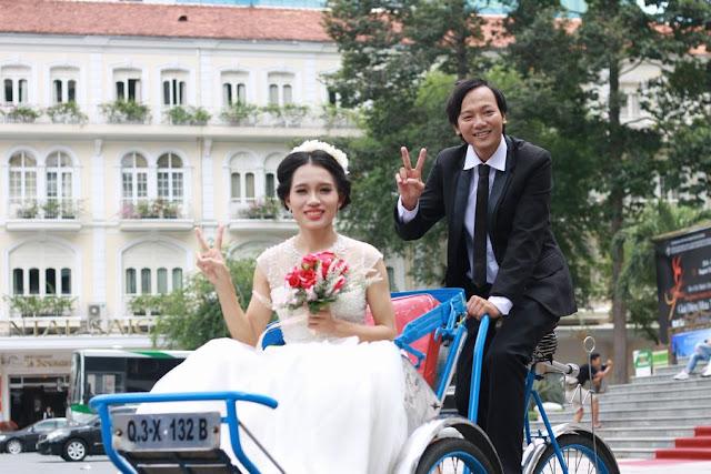 Long Open và bà xã mới cưới