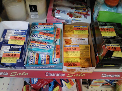 clearance gum at krogers only 49 cents