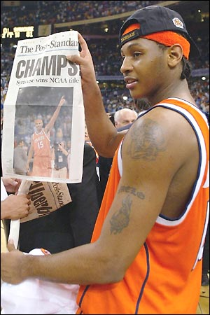 Carmelo Anthony Syracuse University Orangeman Photo
