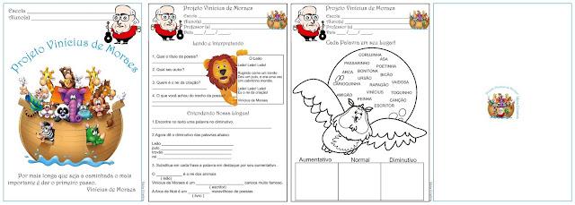 Atividades Projeto Vin  Cius De Moraes 2   Ano