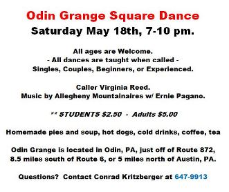 5-18 Odin Grange Square Dance