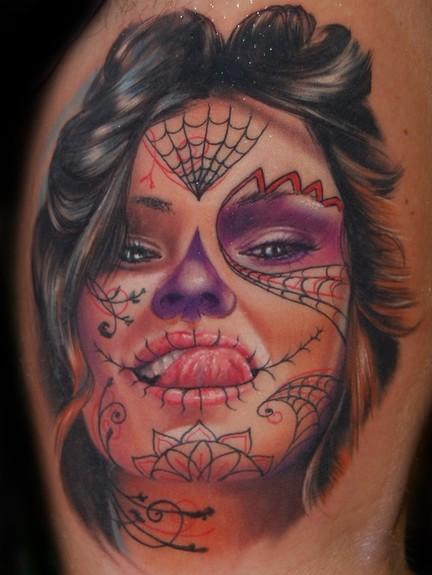 sugar skulls day of dead tattoos. Day of The Dead Tattoo Ideas