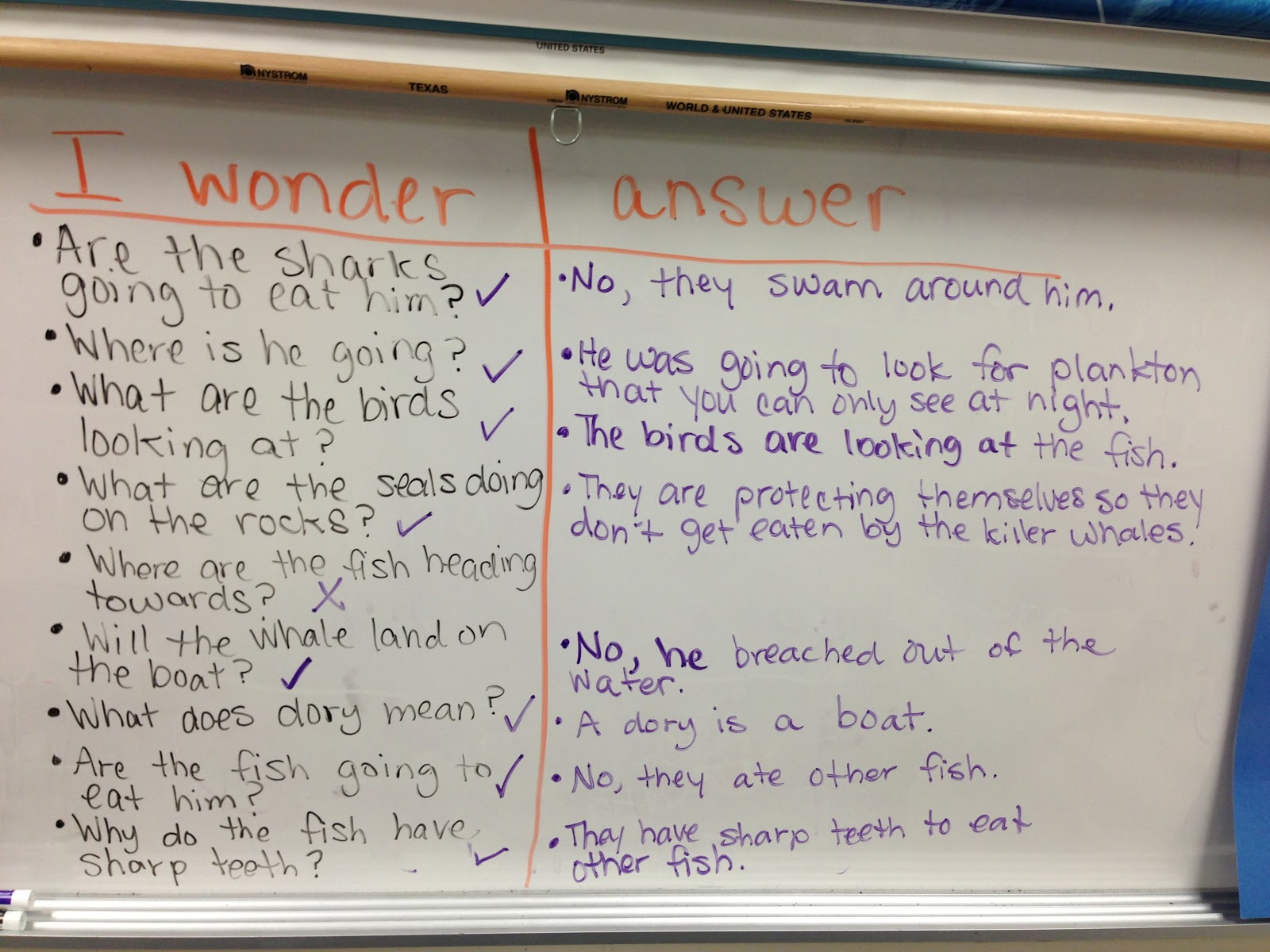 bishop s blackboard an elementary education blog food chains the next day we the story again but this time the focus was on sequencing the ocean food chain from the book as i the students verbally retold