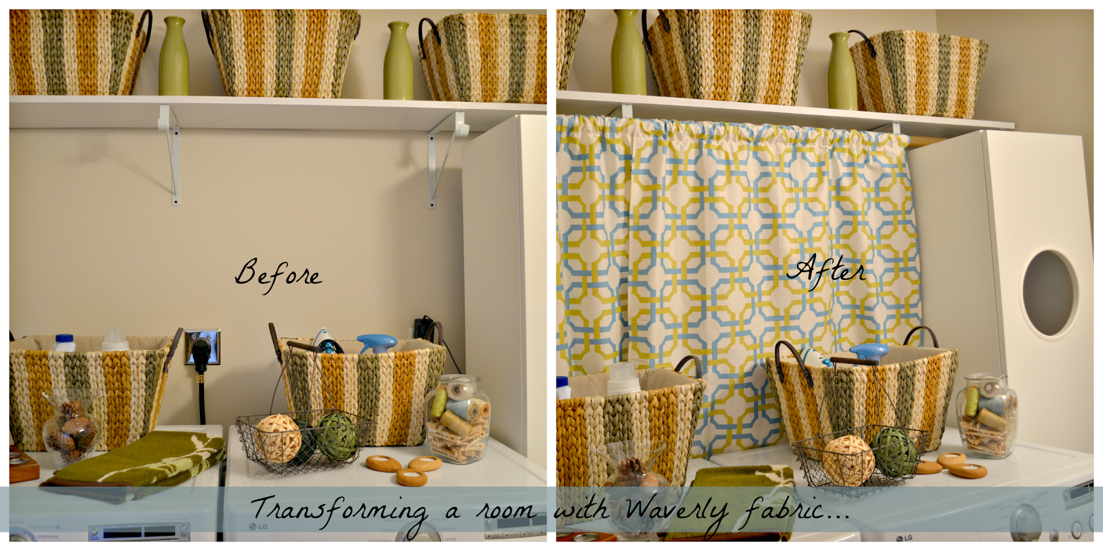 Superior Laundry Room Fabric Part - 11: I Have Been Working Little By Little To Transform My Laundry Room, And This  Fabric Made Another Lovely Addition.