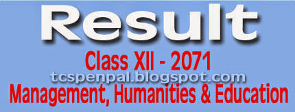 Class 12. Result 2071 with Mark-sheet