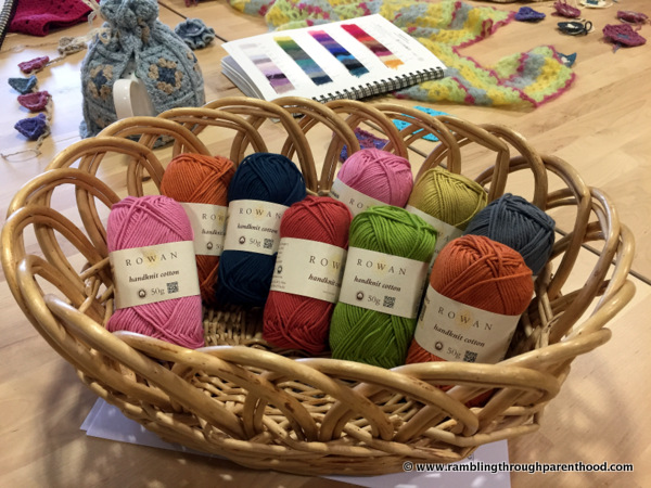A basket of colour at Black Sheep Wools