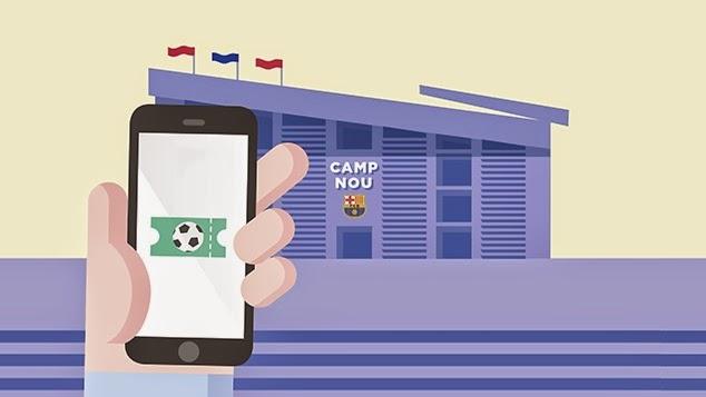 El Barça convierte al móvil en la entrada para el Camp Nou