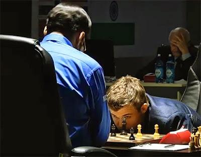 Partie 4 : Carlsen 1/2 Anand au championnat du monde d'échecs 2014 © Chess & Strategy