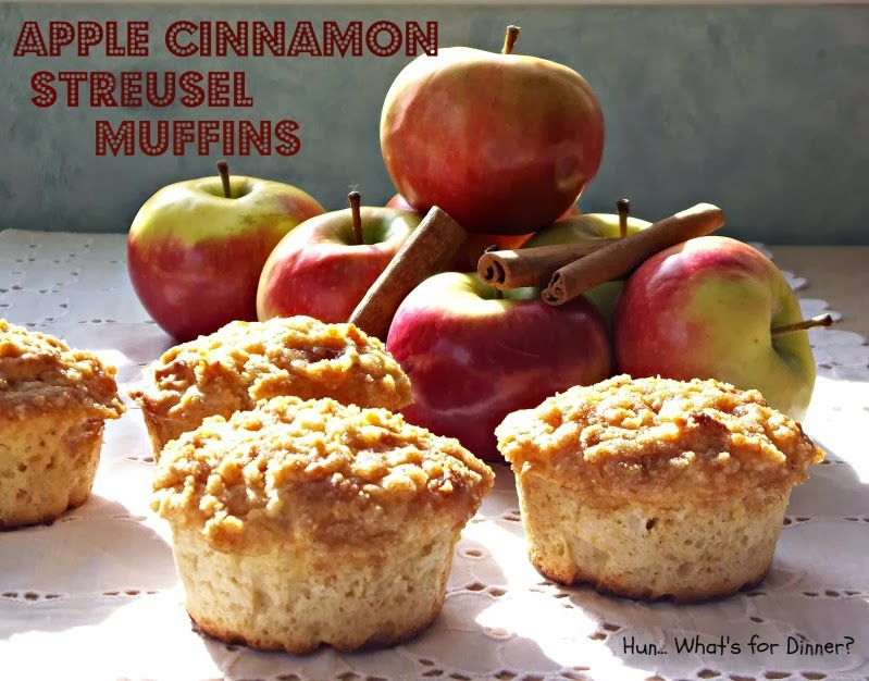 Award winning Apple Cinnamon Streusel Muffins- www.hunwhatsfordinner@hotmail.com
