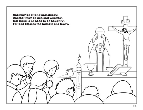 Priest vestments coloring pages coloring coloring pages for Catholic mass coloring pages
