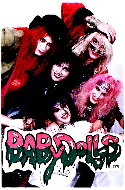 One of the first  quot Babydoll s quot  Fliers the band handed out on the sunset    Glam Punk Bands