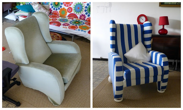 Uni-Therapy: Striped Chair Before & After