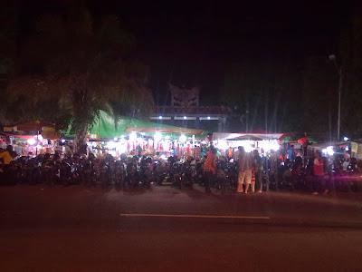 Taman Pancasila di Malam hari