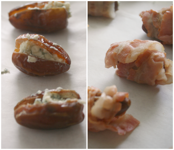 Bacon-Wrapped Dates stuffed w/ Blue Cheese & Smoked ...