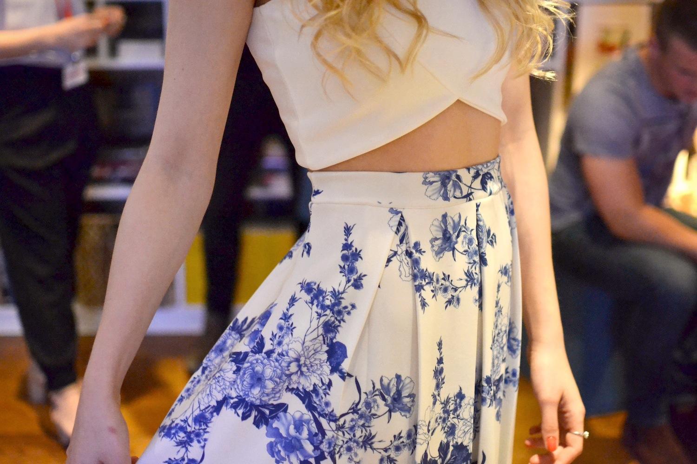 Boohoo Kadie Porcelain skirt