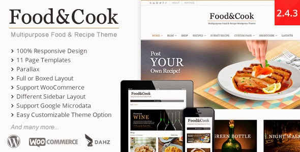 Food & Cook v2.4.3 - Multipurpose Food Recipe WP Theme