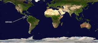 COSTA RICA en el planisferio