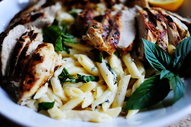 ... with a side of delicious: Grilled Chicken with Lemon Basil Pasta