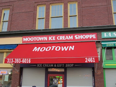 Outside Mootown Ice Cream Detroit