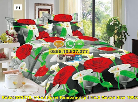 V-bed Sprei Kembang #p1 No.2 Queen Size 160x200