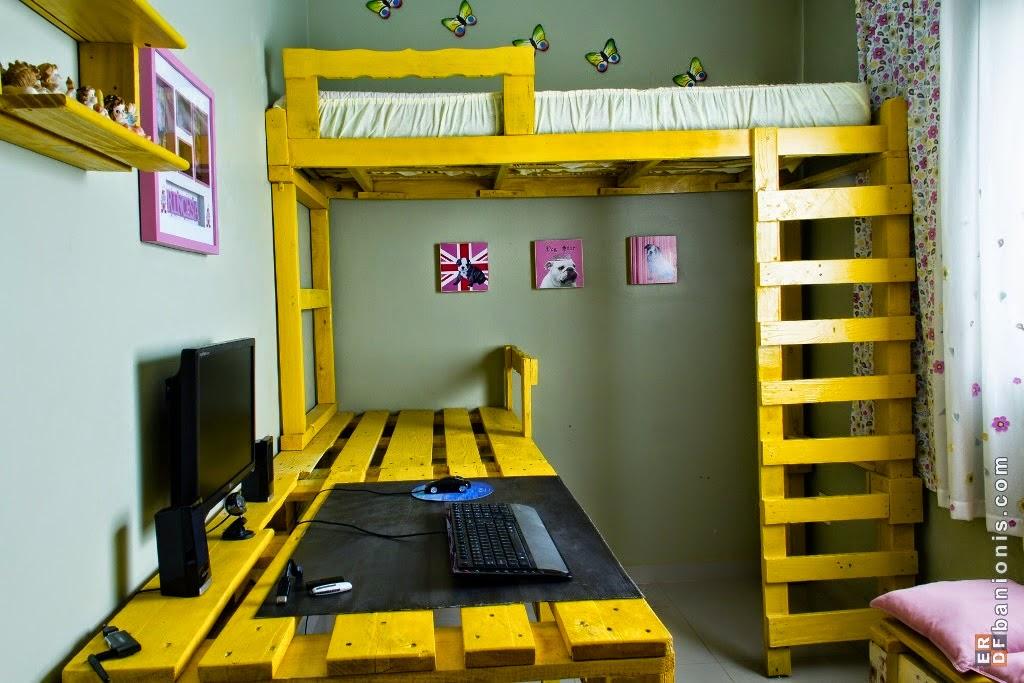 Dormitorio compartido con literas handmade_palets1