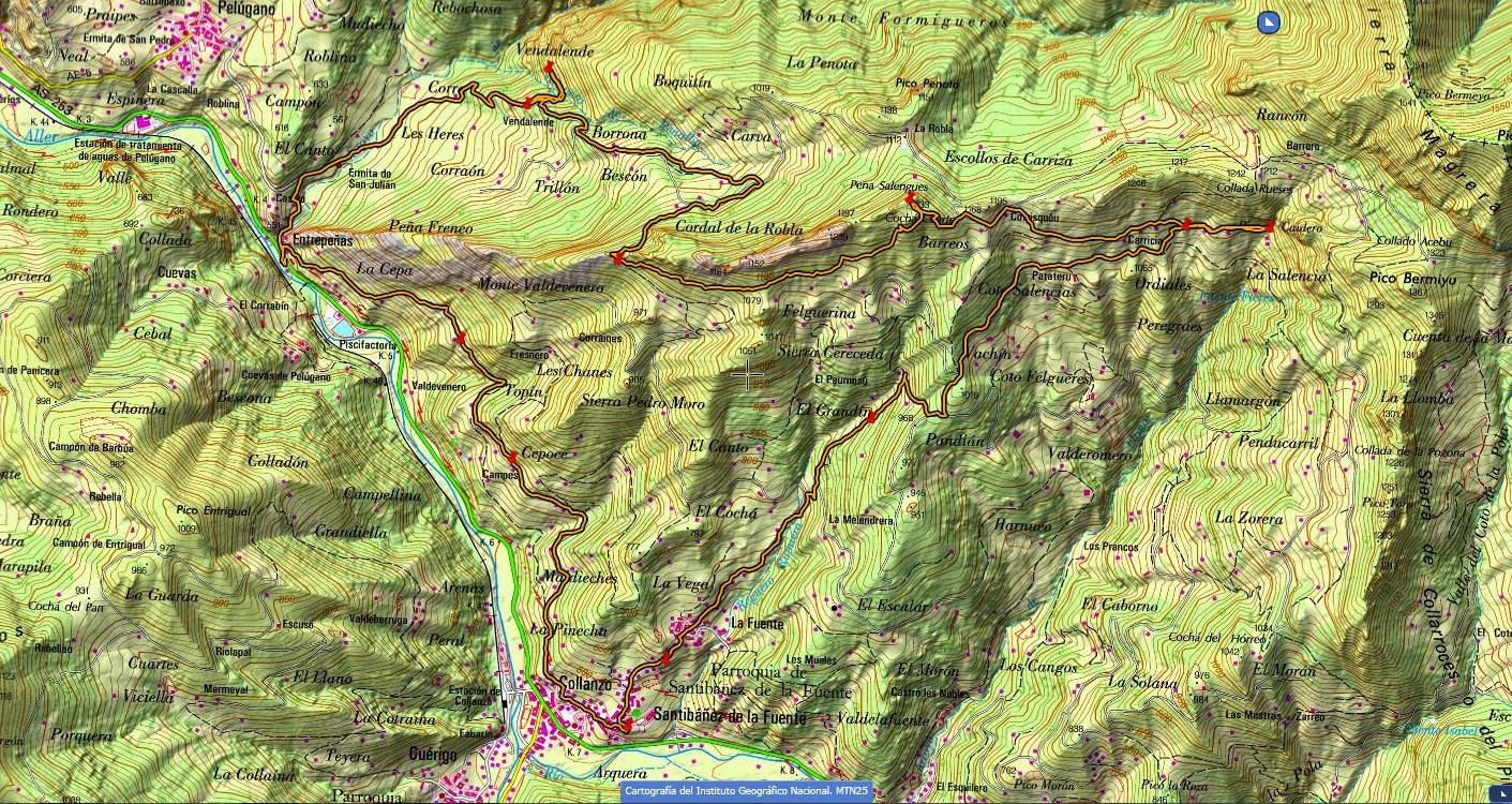 Ruta Pinganón del Caideru-Solengues-Cueva del Ablanu