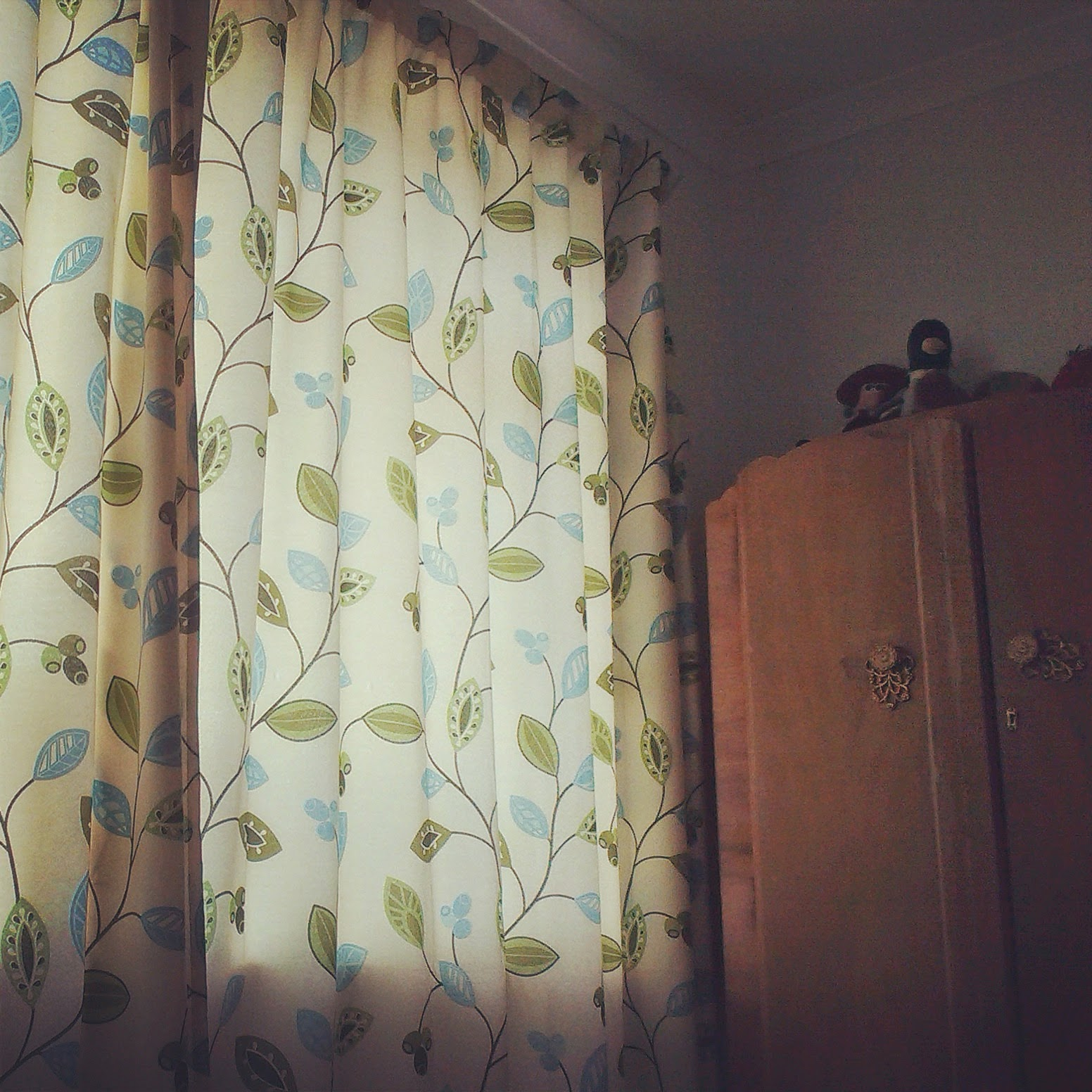 Sunshine through the curtains