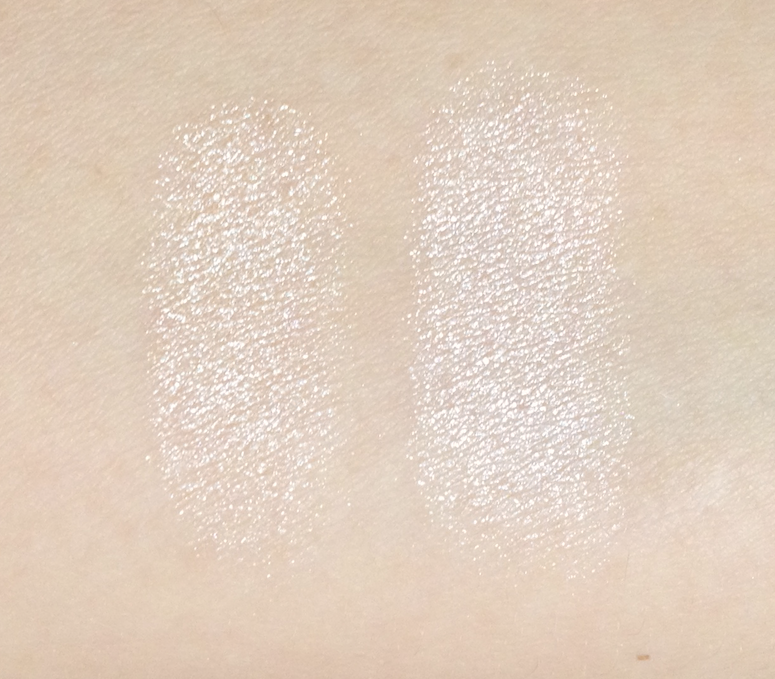 Giorgio Armani Belladonna Palette Highlighter MAC Definitely Defined swatches review
