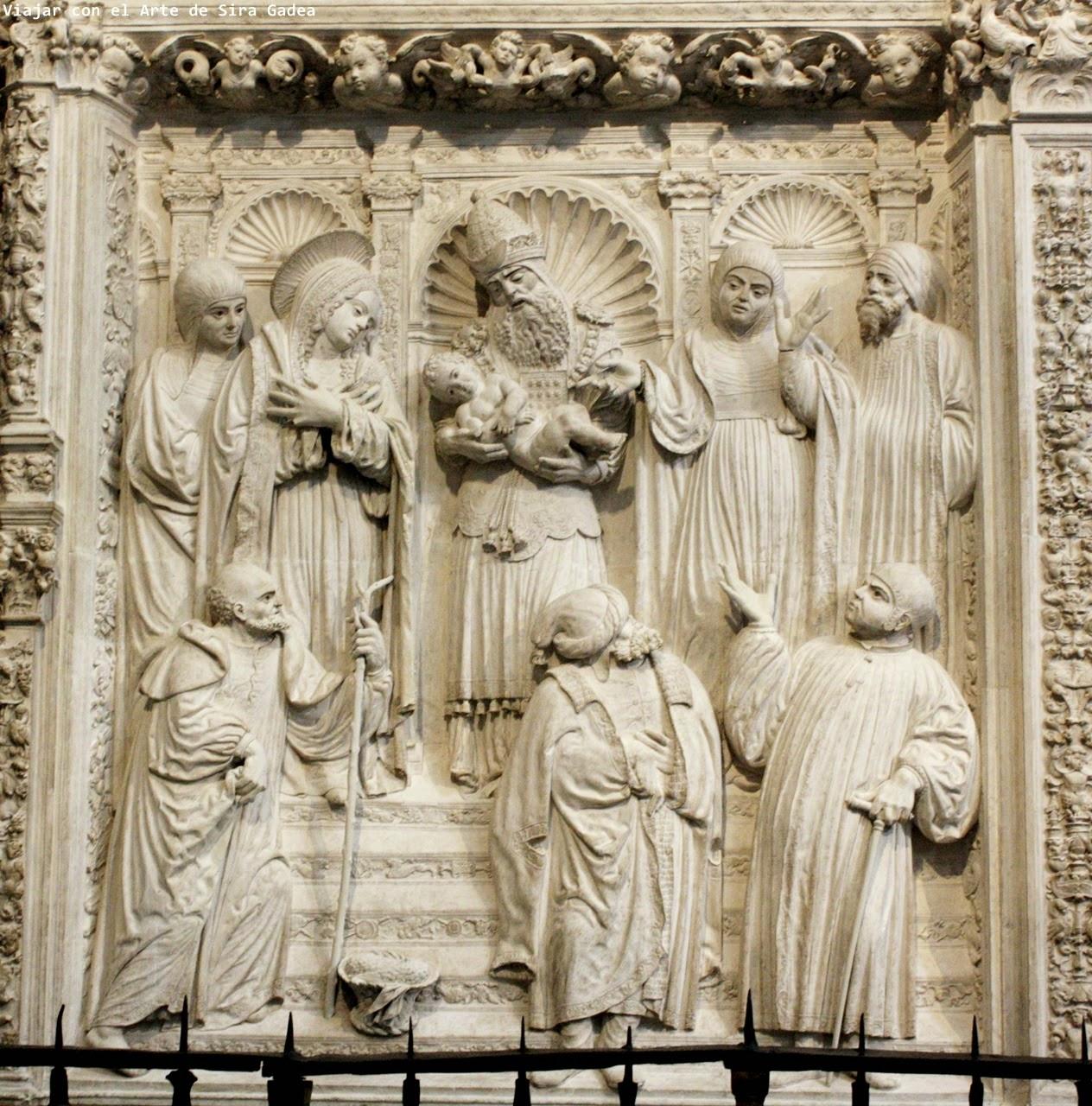 Trascoro Catedral Ávila Presentación en el templo