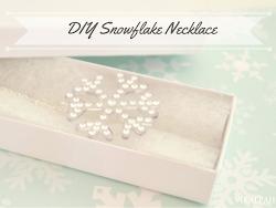 DIY Snowflake necklace