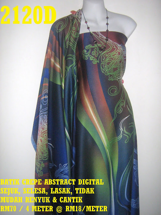 2120D: BATIK CREPE ABSTRACT DIGITAL,  4 METER