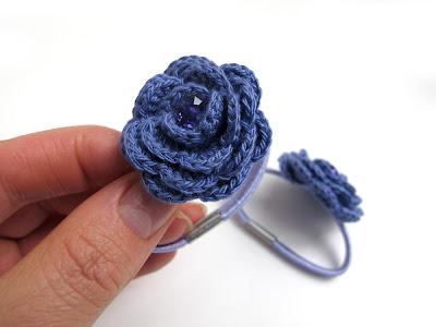 Crochet Elastic Hair Band : Katrinshine: Tutorial for crochet roses