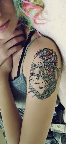 ♥ ♫ ♥  Lovely Sleeve Tattoo for Girls  ♥ ♫ ♥